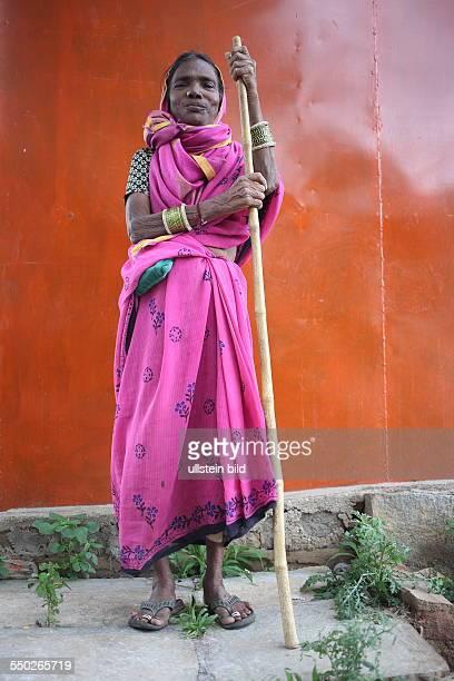 IND Hyderabad Frau in der Nähe der Hauptstadt des Bundesstaates Andrah Pradesh