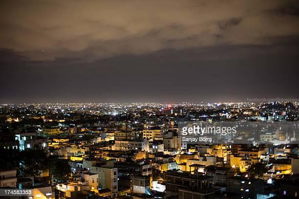 Hyderabad skyline at night
