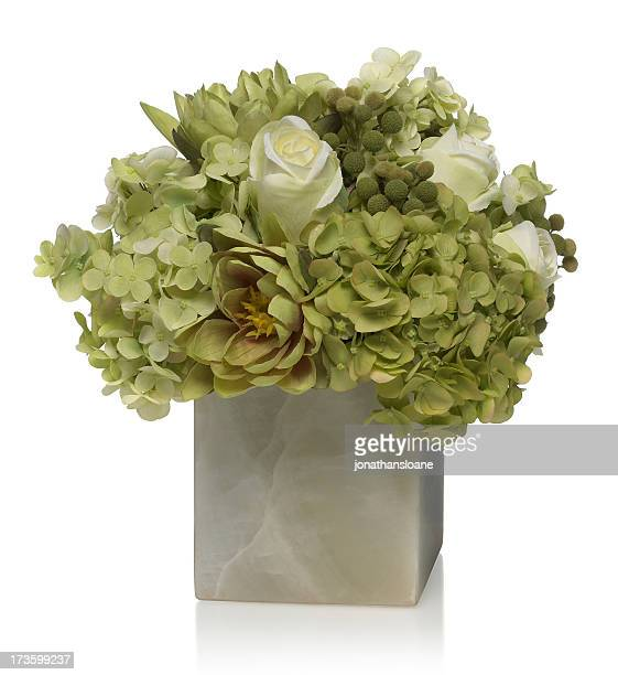 Hydrangea and rose Bouquet on a white background