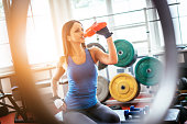 Hydration with energy drink during hard workout