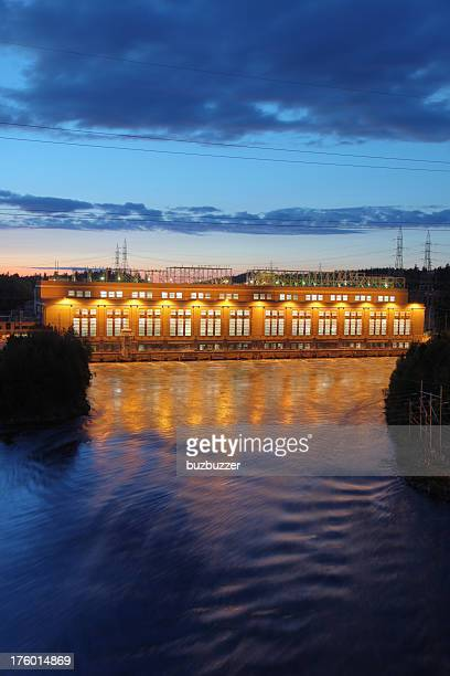 Hydro Electric Power Station at Sunset