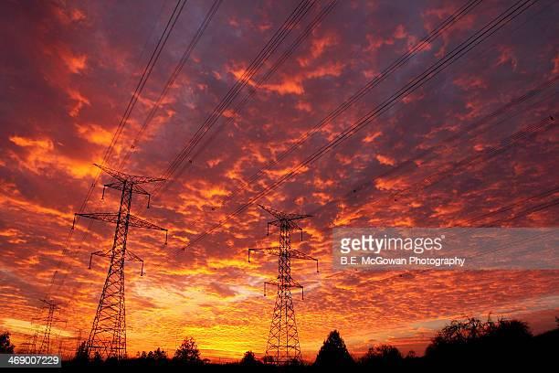 Hydro Tower Sun Set