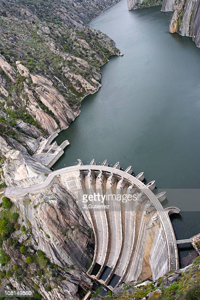 Hydroelectric Dam Aerial View