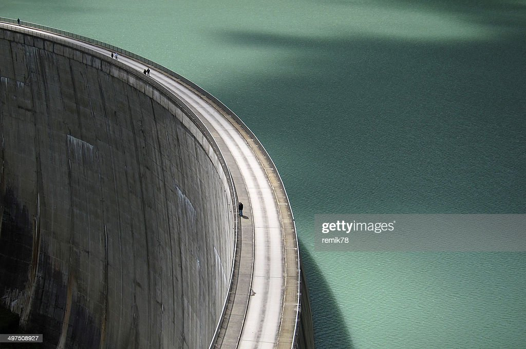 Hydroelectric dam,  view from above