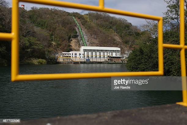 A hydroelectric plant run by the Costa Rican Electricity Institute is seen as the power company has managed to produce all of the electricity for the...