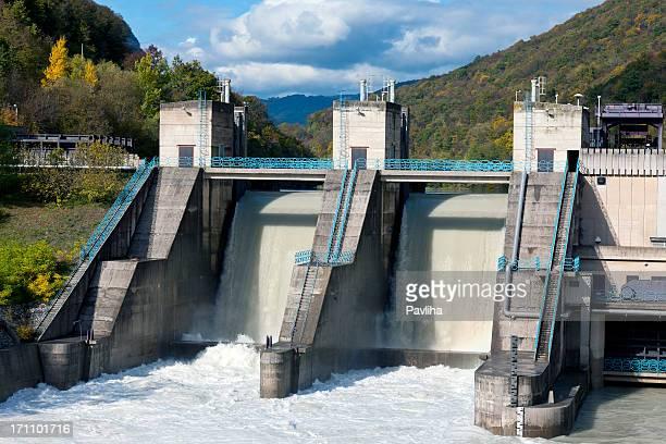 Plante Hydropower Solkan sur Rivière Soca Slovénie
