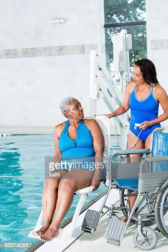 Hydrotherapy treatment for  African American patient