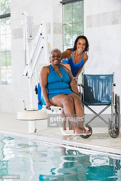 Hydrotherapy treatment for senior African American patient
