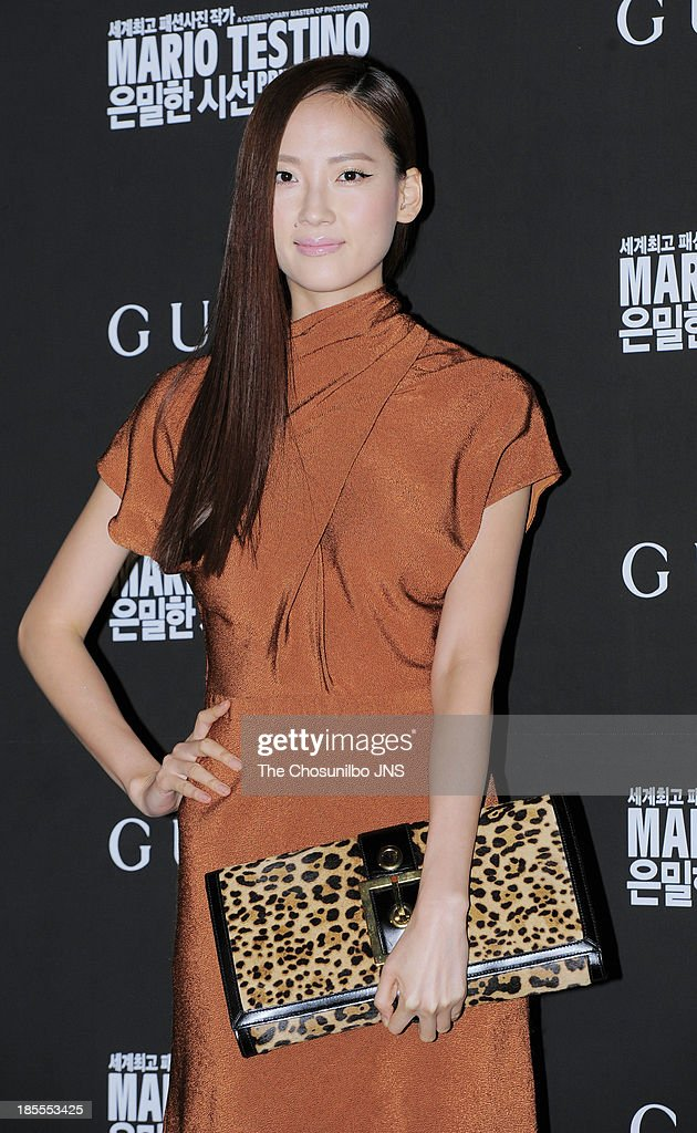 Hye Park attends the 'Mario Testino: Private View' Photographic Exhibition Opening at GUCCI flagship store on October 18, 2013 in Seoul, South Korea.