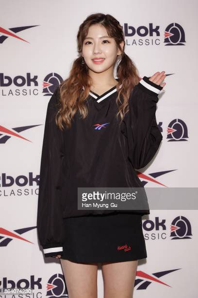 Hye Yeon aka HyeYeon of girl group Gugudan attends the Reebok Classic 'Kasina X Workout' Collaboration Photocall on October 20 2017 in Seoul South...