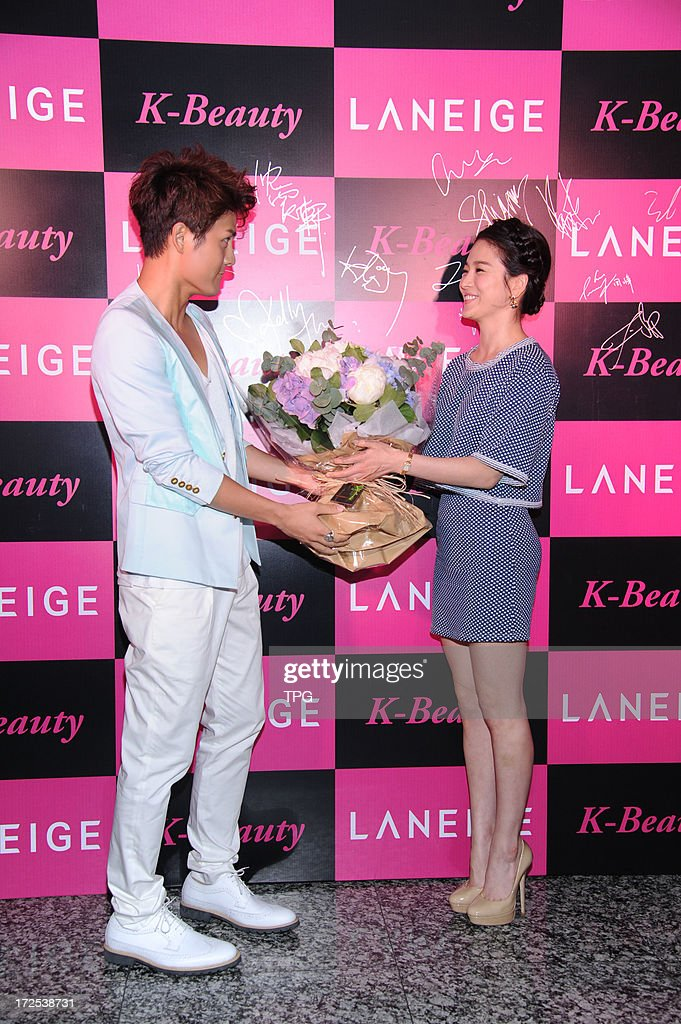 Hye-gyo Song and Kenji Wu attended Laneige Cocktail Party on Tuesday July 02, 2013 in Hong Kong, China.