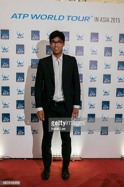 Hyeon Chung poses for a picture at ATP World Tour in Asia 2015 on October 12 2015 in Shanghai China