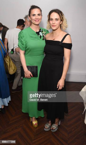 Hyley Atwell and Jessica BrownFindlay attend the press night after party for The Almeida Theatre's 'Hamlet' playing at the Harold Pinter Theatre on...