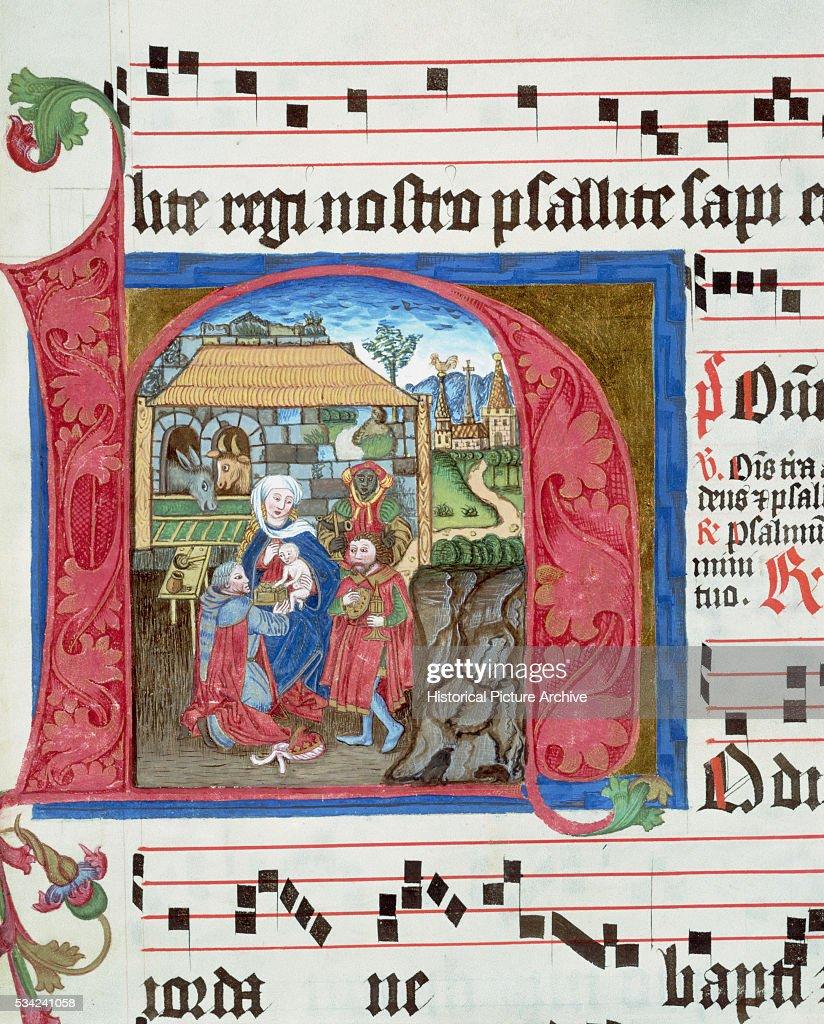 Hymnal Illustration of The Nativity of Jesus Christ