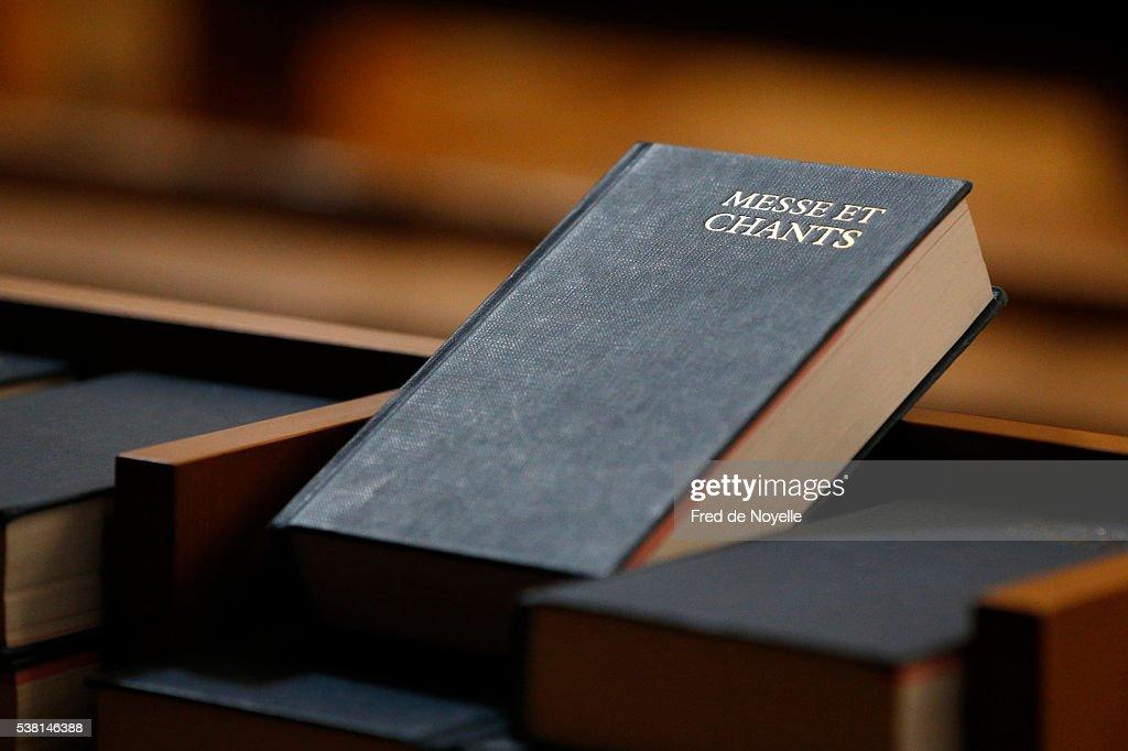 Hymnbook in a church.
