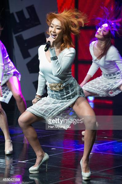 Hyolyn of girl group SISTAR performs during her first solo album ' Love Hate' showcase on November 26 2013 in Seoul South Korea