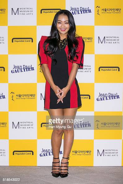 Hyolyn of South Korean girl group SISTAR attends 'Jean Paul Gaultier' Exhibition at DDP on March 25 2016 in Seoul South Korea
