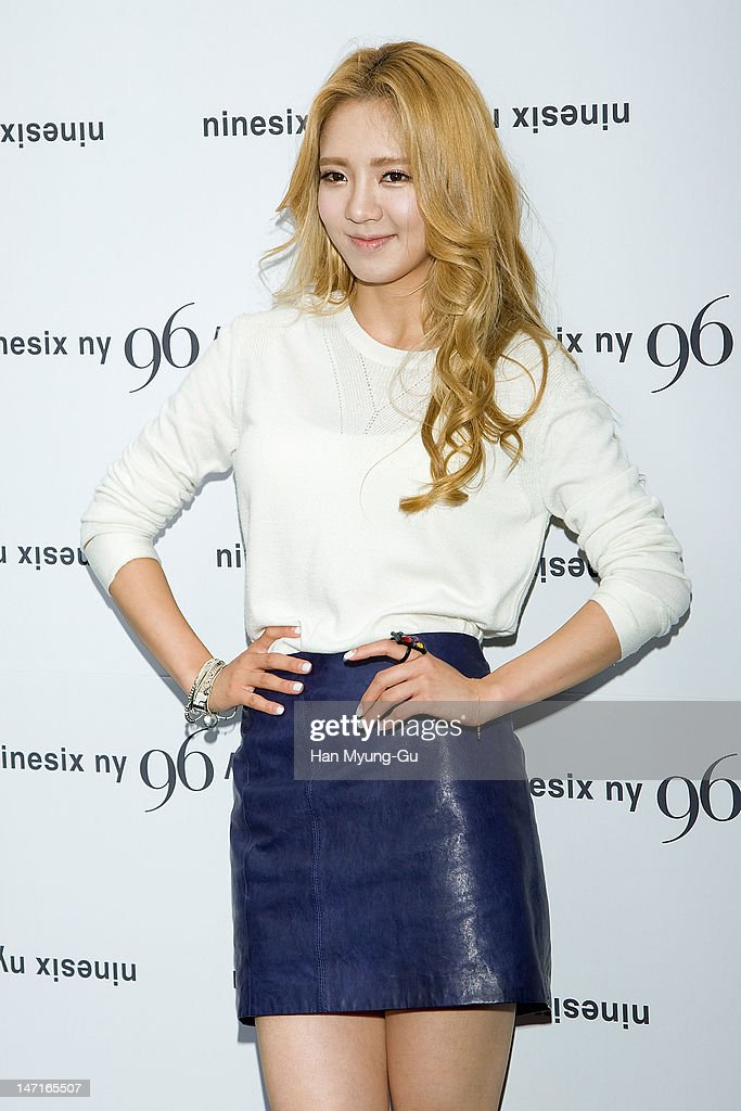 Hyoyeon of South Korean girl group Girls' Generation arrives the 'Nine Six NY' Directing Collection with Chris Han at Platoon Kunsthalle on June 26, 2012 in Seoul, South Korea.