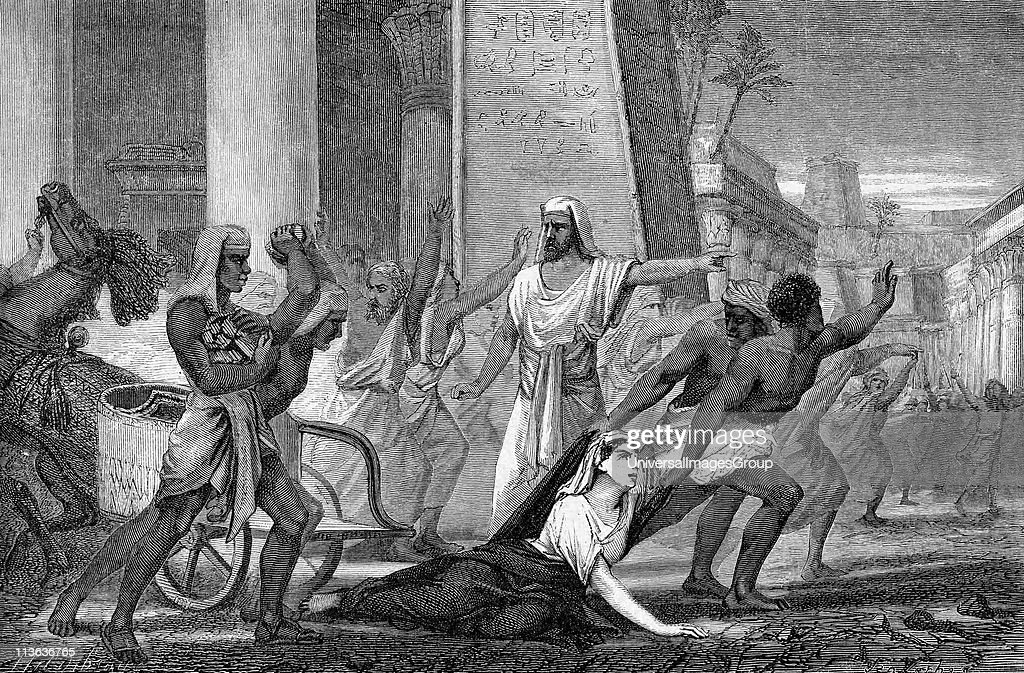 Hypatia mathematician and philosopher murdered by followers of Cyril Patriarch of Alexandria Mid19th century artist's reconstruction Wood engraving