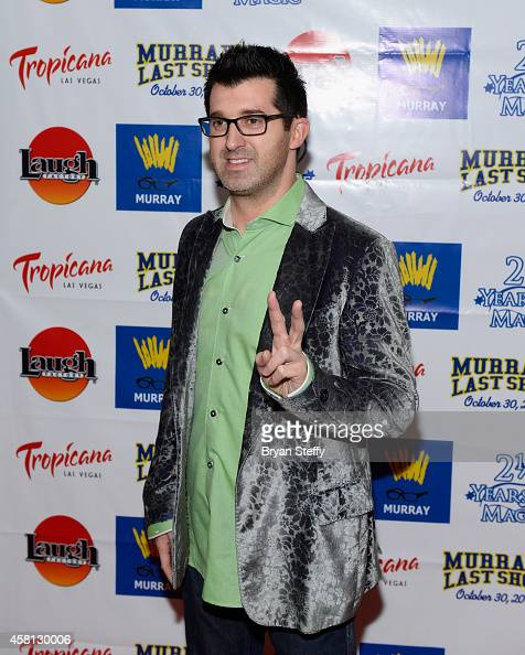 Hypnotist Marc Savard arrives at Murray 'Celebrity Magician' show closing at the Laugh Factory at the New Tropicana Las Vegas on October 30 2014 in...