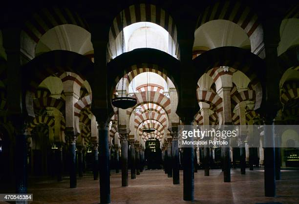 'Hypostyle Hall at Cordoba's Mezquita by Moorish craftsmen 833961 9th10th Century carved sandstone jasper onyx granite and marble Spain Cordoba Whole...