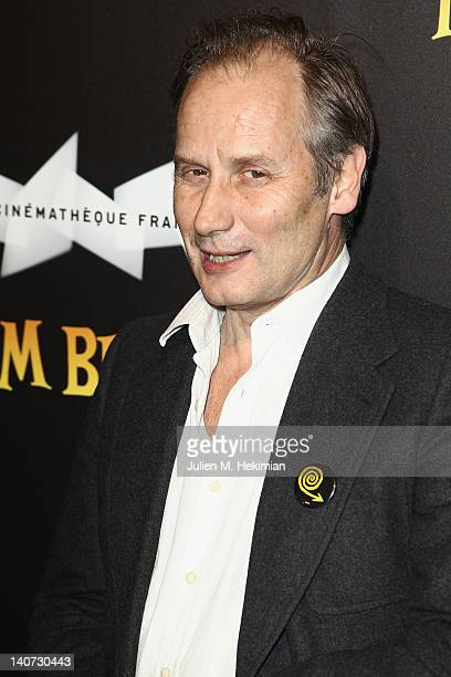 Hyppolite Girardot attends the Tim Burton Exhibition Launch at La Cinematheque on March 5 2012 in Paris France