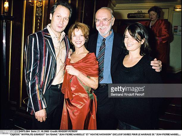 Hyppolite Girardot his wife 'Jean Pierre Marielle' and 'Agathe Natanson' party for the wedding of 'Jean Pierre Marielle' and 'Agathe Natanson' at the...
