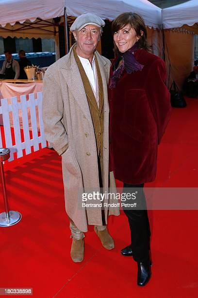 Hyppolite Romain and Claire Duport attend 'Opera En Plein Air' Gala with 'La flute enchantee' by Mozart play at Hotel Des Invalides on September 11...