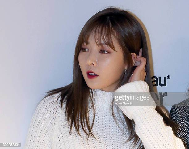 Hyuna of 4Minute attends the Bershka flagship store opening event at MapoGu on November 20 2015 in Seoul South Korea