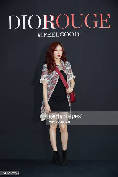HyunA of South Korean girl group 4minute attends the Dior 'Miss Dior' Launch Photocall on August 31 2017 in Seoul South Korea