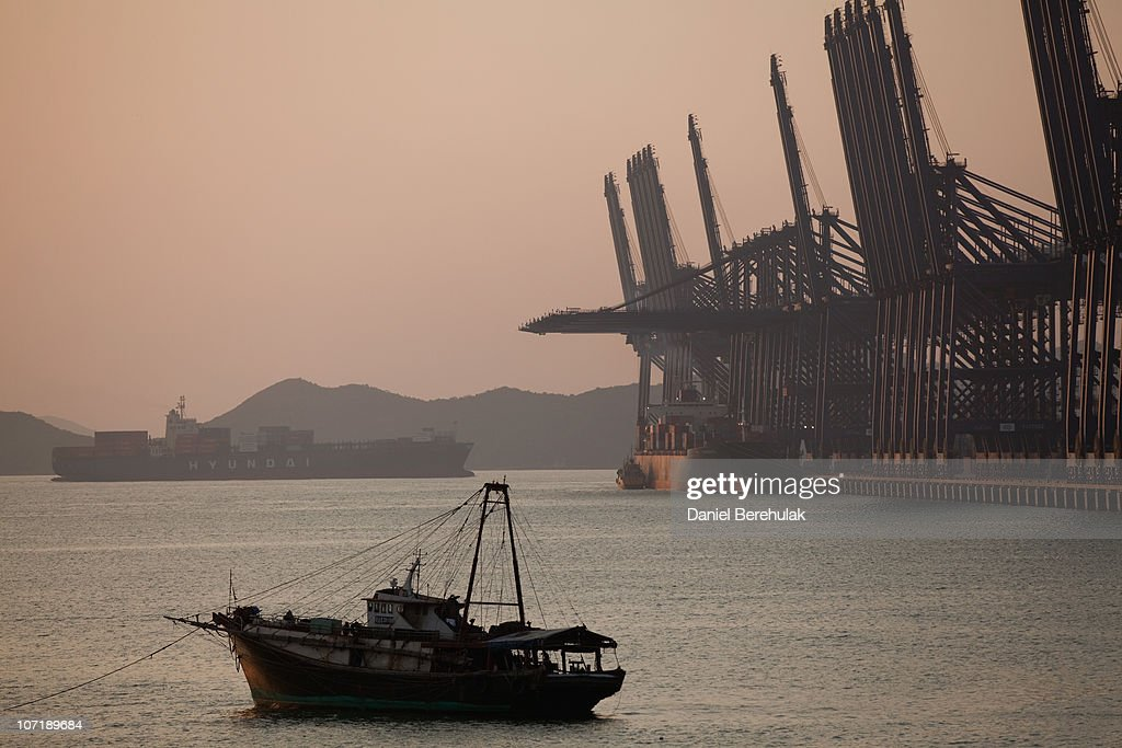 A Hyundai cargo ship navigates its way into Shenzhen Port on November 28, 2010 in Shenzhen, China. According to the US Commercial Service, Shenzhen is one of the fastest growing cities in the world. Home of the Shenzhen Stock Exchange and the headquarters of numerous technology companies, the now bustling former fishing village is considered southern China's major financial centre.
