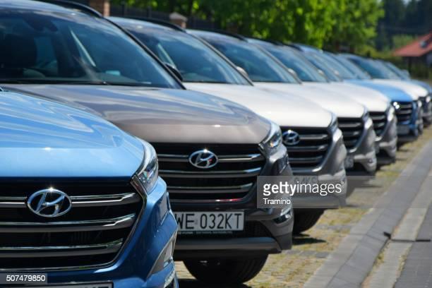 Hyundai cars in a row
