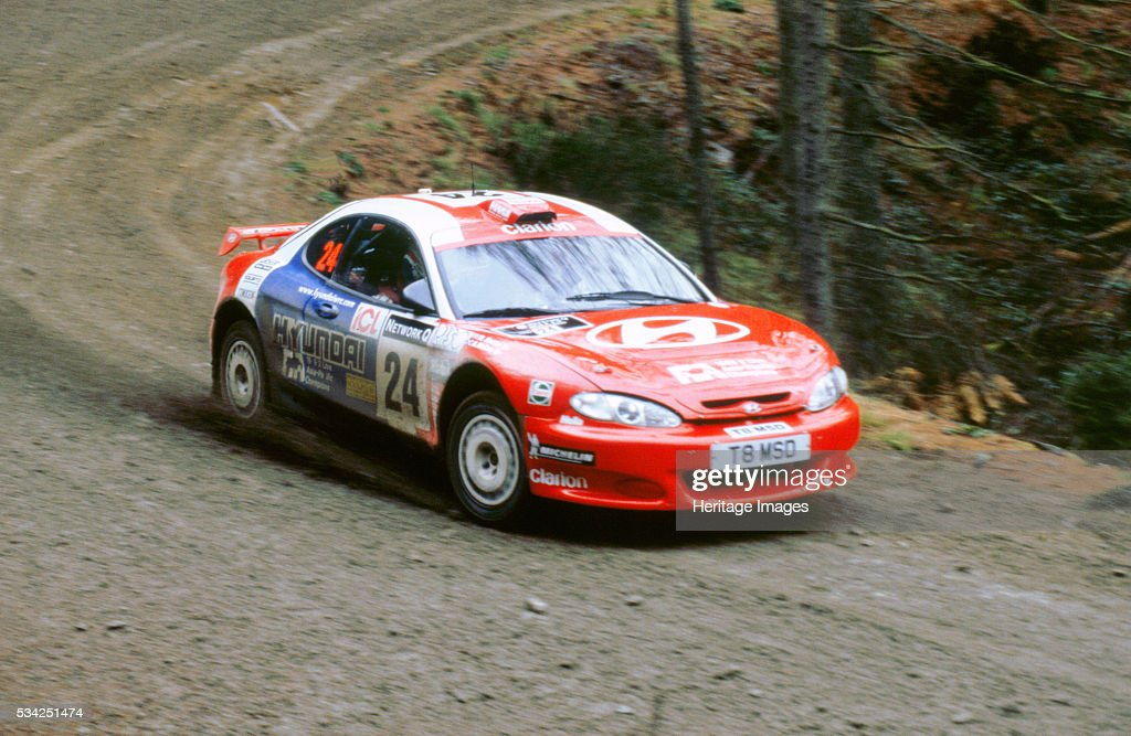 Hyundai Coupe driven by A McCrae Network Q 2000