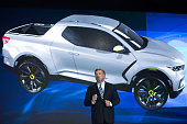 Hyundai Motor America President and CEO David Zuchowski introduces the new Tucson models at the New York International Auto Show at the Javits Center...