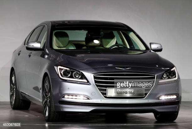 hyundai genesis stock photos and pictures getty images. Black Bedroom Furniture Sets. Home Design Ideas