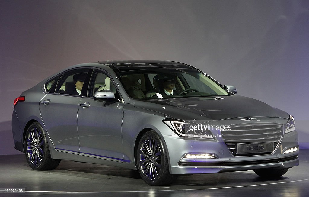launch of hyundai motor company 39 s all new genesis in seoul getty images. Black Bedroom Furniture Sets. Home Design Ideas