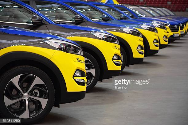 Hyundai vehicles in a row