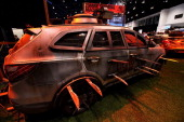 Hyundai Zombie exhibit dedicated to 'The Walking Dead' at the 106th Annual Chicago Auto Show at McCormick Place in Chicago Illinois on FEBRUARY 07...