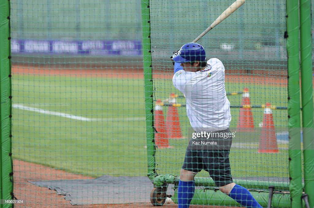 Hyunsoo Kim #50 of Team Korea takes batting practice during the World Baseball Classic workout day at Taichung Intercontinental Baseball Stadium on Friday, March 1, 2013 in Taichung, Taiwan.