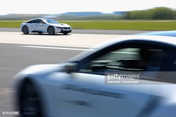 BMW i8 at the BMW DrivingExperience during the BMW driving academy Maisach ahead of the 102 BMW Open by FWU at Iphitos tennis club on April 30 2017...