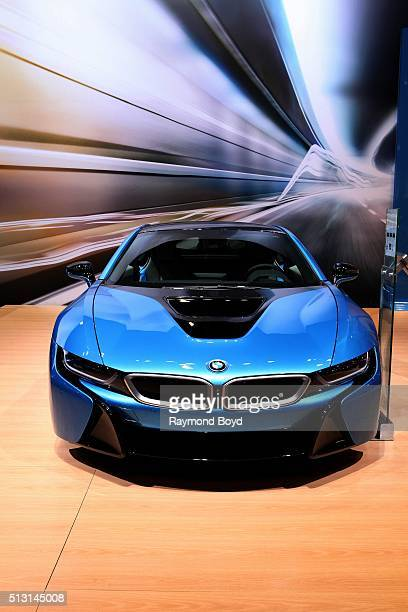 BMW i8 is on display at the 108th Annual Chicago Auto Show at McCormick Place in Chicago Illinois on February 19 2016