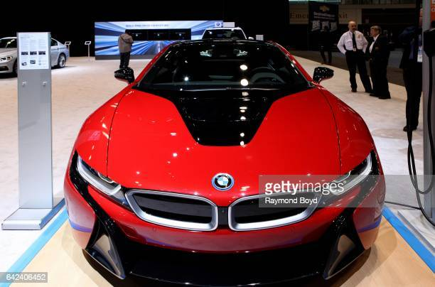 BMW i8 is on display at the 109th Annual Chicago Auto Show at McCormick Place in Chicago Illinois on February 9 2017