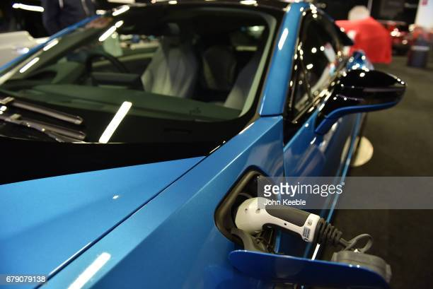 BMW i8 on display at the London Motor Show at Battersea Evolution on May 4 2017 in London England 41 dealerships and manufacturers will showcase over...