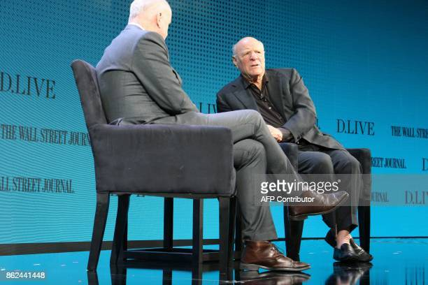 IAC/InterActiveCorp Chairman Barry Diller discusses Hollywood scandal and Internet industry trends as he takes part in a WSJD Live conference in...