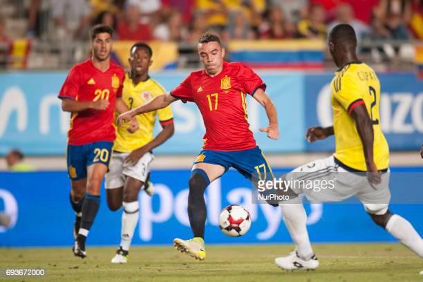 Iago Aspas during a friendly match between national team of Spain vs Colombia in Nueva Condomina Stadium Murcia SpainWednesday June 7 2017