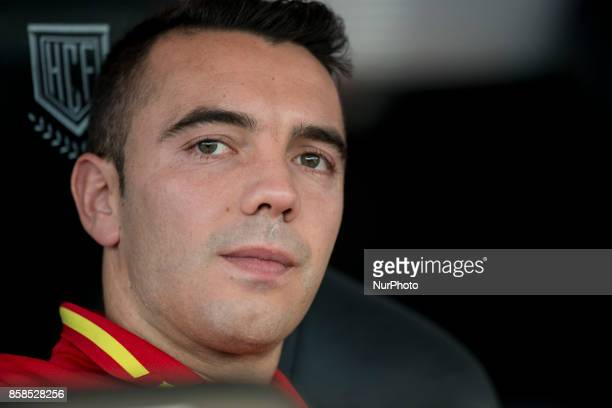 Iago Aspas during the qualifying match for the World Cup Russia 2018 between Spain and Albaniaat the Jose Rico Perez stadium in Alicante Spain on...