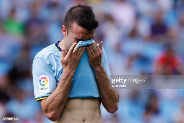 Iago Aspas forward of Celta de Vigo during the La Liga Santander match between Celta de Vigo and Real Sociedad de Futbol at Balaidos Stadium on May...