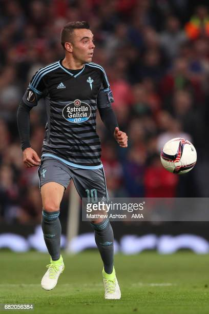 Iago Aspas of Celta Vigo in action during the UEFA Europa League semi final second leg match between Manchester United and Celta Vigo at Old Trafford...