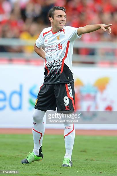 Iago Aspas of Liverpool FC during the international friendly match between Thailand and Liverpool at Rajamangala Stadium on July 28 2013 in Bangkok...
