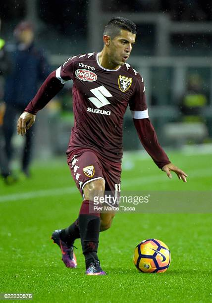 Iago Falque of FC Torino in actio during the Serie A match between FC Torino and Cagliari Calcio at Stadio Olimpico di Torino on November 5 2016 in...